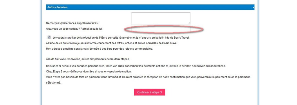 basic travels code cadeau